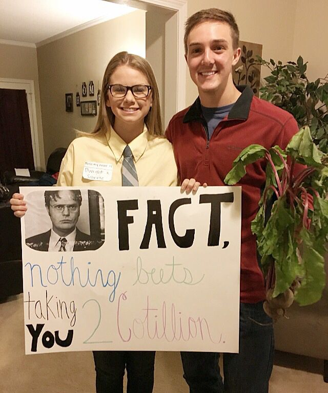 The office cotillion #promposal #theoffice Cotillion is a formal in which the girls ask the guys, and this is how I asked!! Could also be used for Prom guys!!
