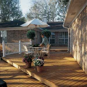 Go From an Old Deck to New in 4 Steps  | thisoldhouse.com  Probably need to do this.