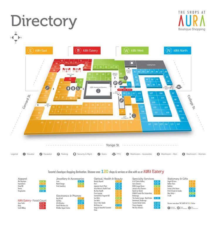 Our map illustration for The Shops at AURA.