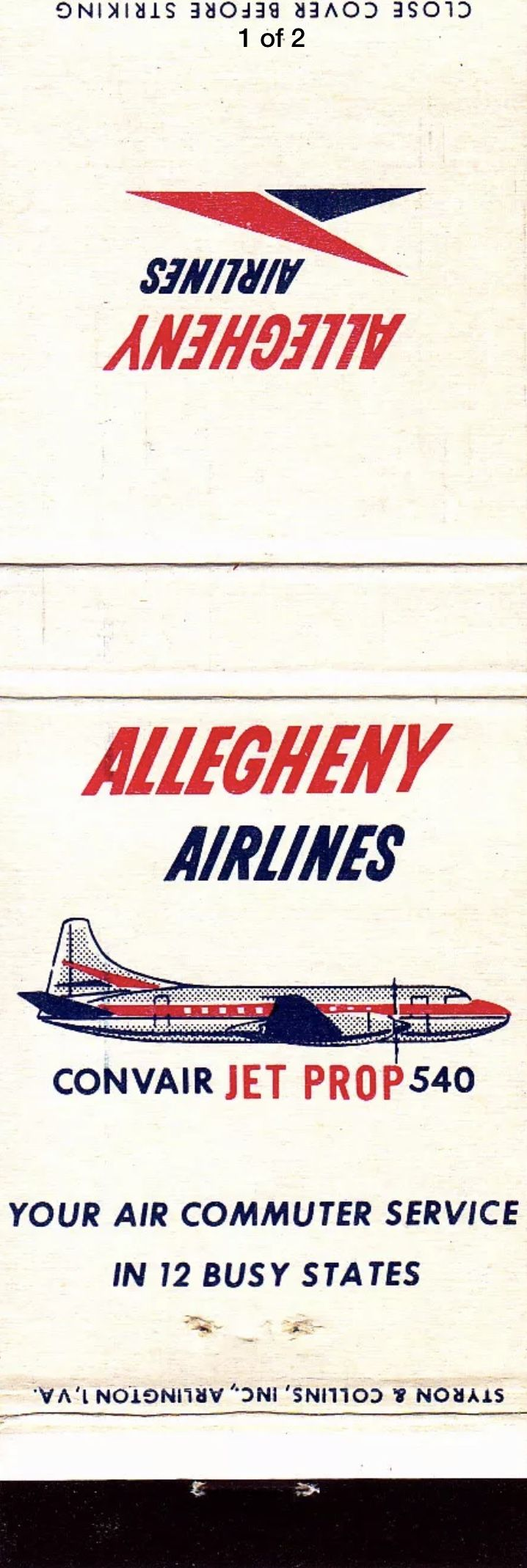 Pin by Brian Kravat on Vintage Airline Matchbooks