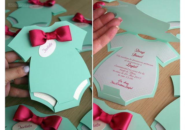 Baiciurina Olga's Design Room: Приглашения на крестины в форме бодика-Baby Shower...
