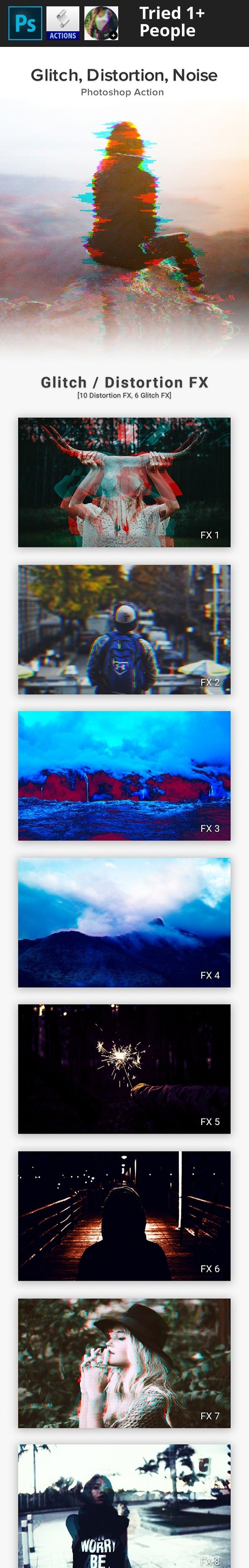 3d, art, broken, channel, color, digital, distortion, effect, experimental, frame, fx, gif, glitch, grain, movie, noise, pixel, rgb, ripple, slice, stereo image, stripes, tv, vhs Glitch, Distortion, Noise Effects You'll Get:    10 Actions  PDF GUIDE  Images are NOT included.Thank you for your time!