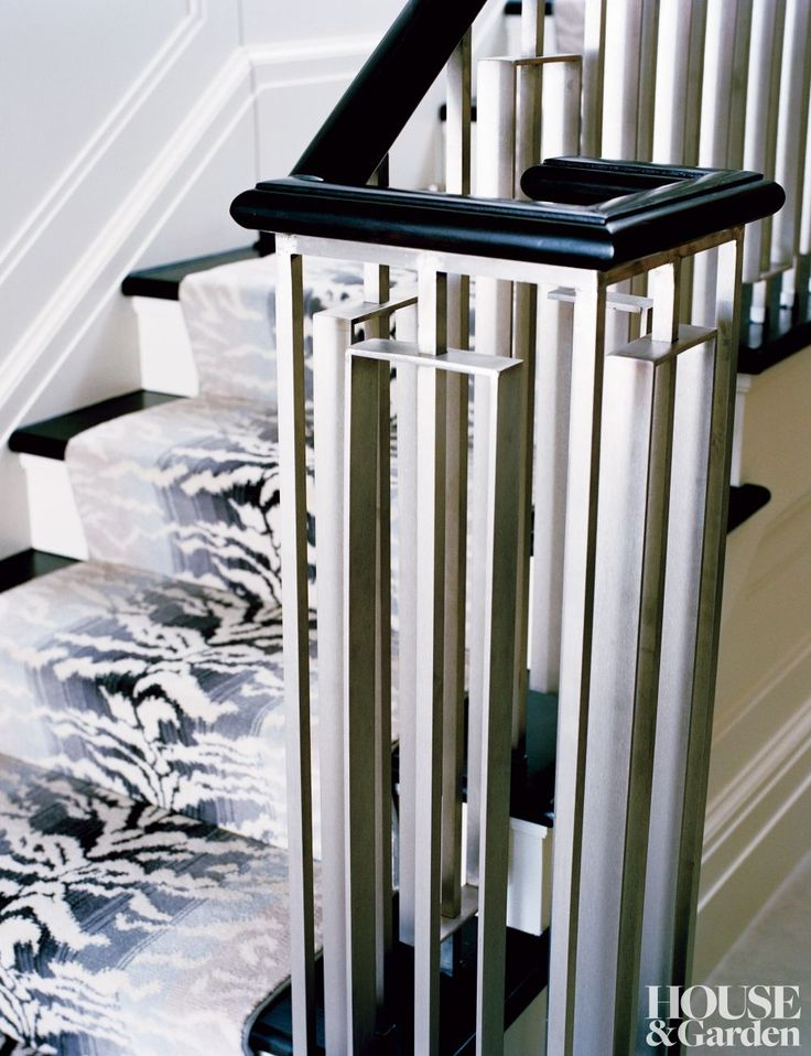 stylized stainless staircase pickets  - via hello sukio