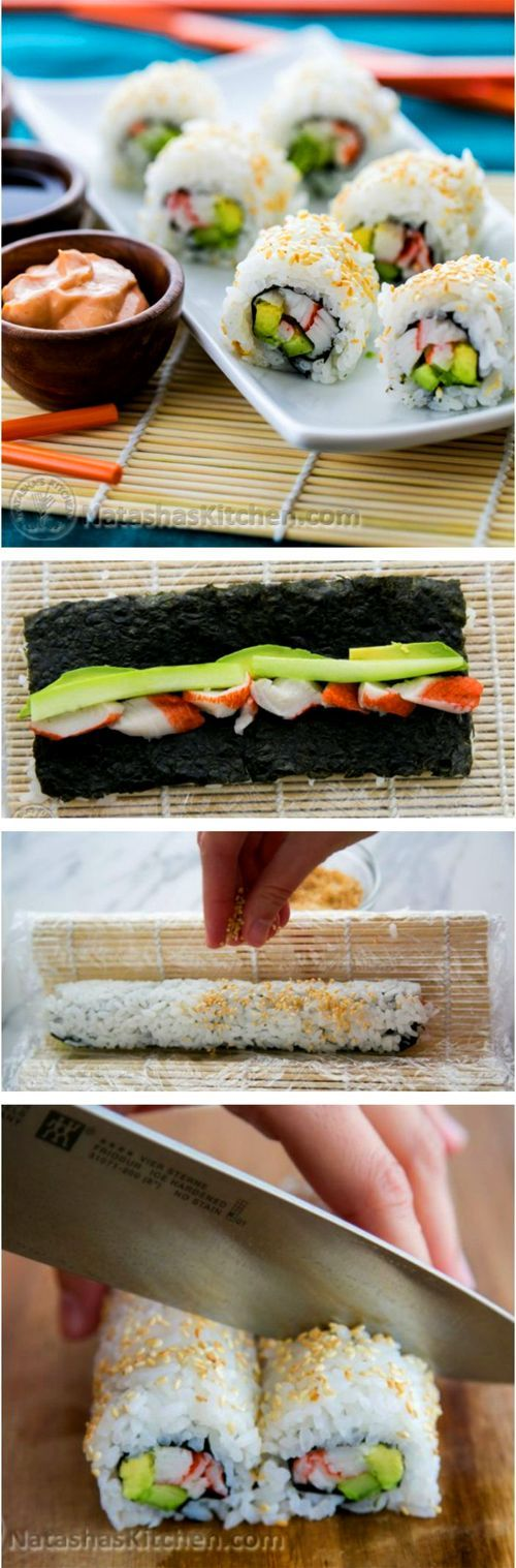 A tutorial on how to make the perfect sushi rice and a recipe for authentic California rolls