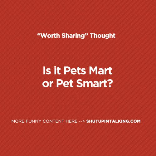 Pets Mart or Pet Smart? Who even knows! haha! so awesome -> shutupimtalking.com...... One of those both moments