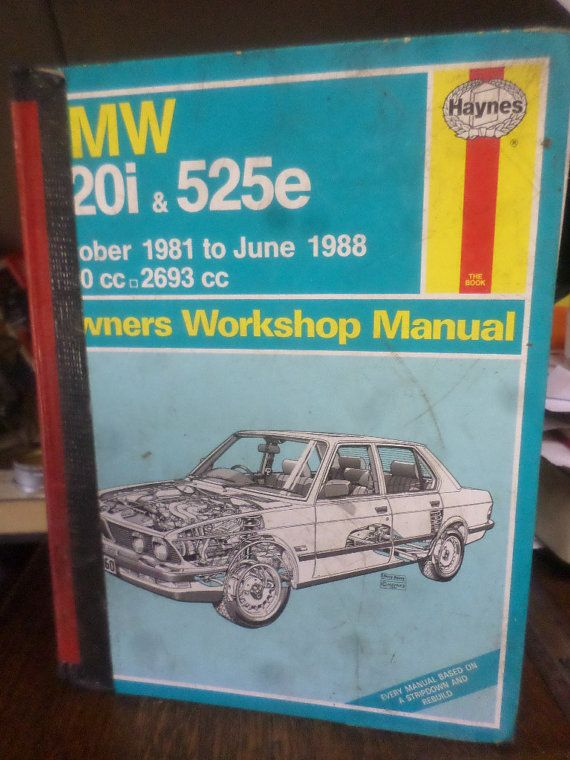 Owners Workshop Manual  BMW 520i  525e  by BookShopBiblioteque, €8.00