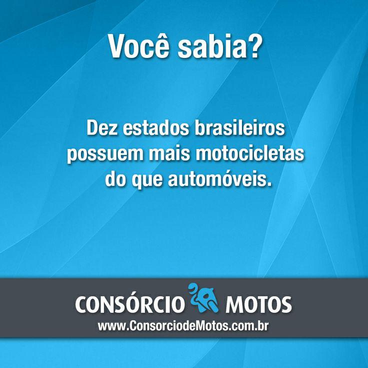 #DicasParaMotos  As motocicletas têm preços mais acessíveis do que os automóveis, são mais econômicas, têm menor custo de manutenção e são mais ágeis para o trânsito intenso do dia-a-dia. Veja: https://www.consorciodemotos.com.br/noticias/dez-estados-brasileiros-possuem-mais-motos-do-que-carros?idcampanha=288&utm_source=Pinterest&utm_medium=Perfil&utm_campaign=redessociais