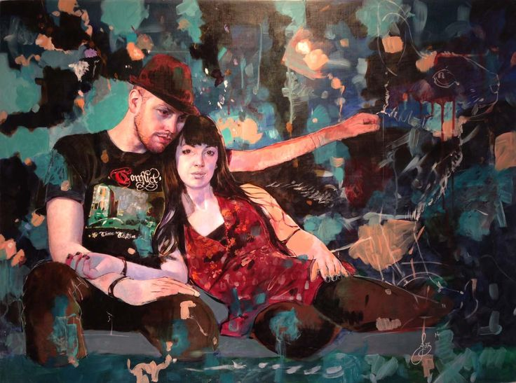 Jasmine Middlebrook - I have found this place (2014) oil on board http://nzartsite.com/exhibitions/jasmine-middlebrook
