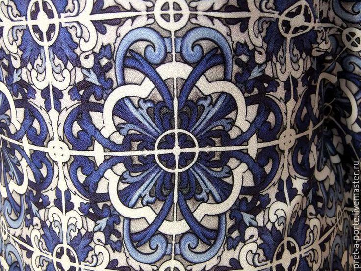 Купить D&G креп вискоза плательная , Италия - разноцветный, итальянские ткани, материалы для творчества