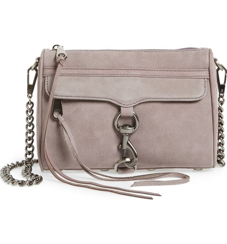 Lush nubuck and bold signature hardware add refined glamour to the fan-favorite Mini MAC bag from Rebecca Minkoff.