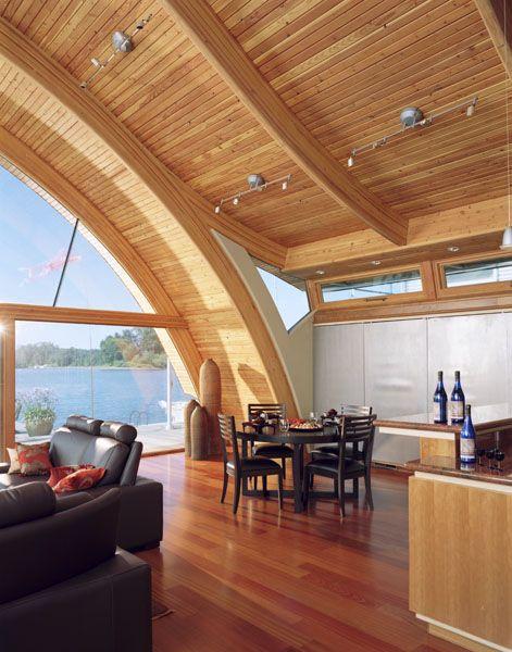 Fennell Residence - House Boat by Robert Harvey Oshatz: Dining Room, House Design, Floating House, Boats Life, Houseboats, House Projects, Harvey Oshatz, Robert Harvey, Portland Oregon