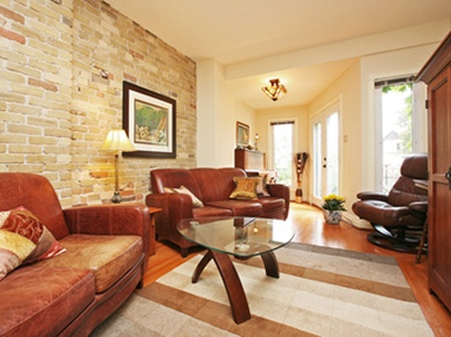 staged living room, using mostly existing furniture plus accessory rentals