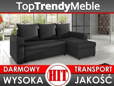 NAROŻNIK Top Lux ROZKŁADANY DOSTAWA sofa GRATIS