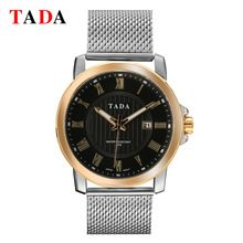 3ATM Wateproof Japan Movement TADA Brand Men Mesh stainless steel Band Wristwatch Relogio Feminino Montre Femme Silver Watch(China (Mainland))