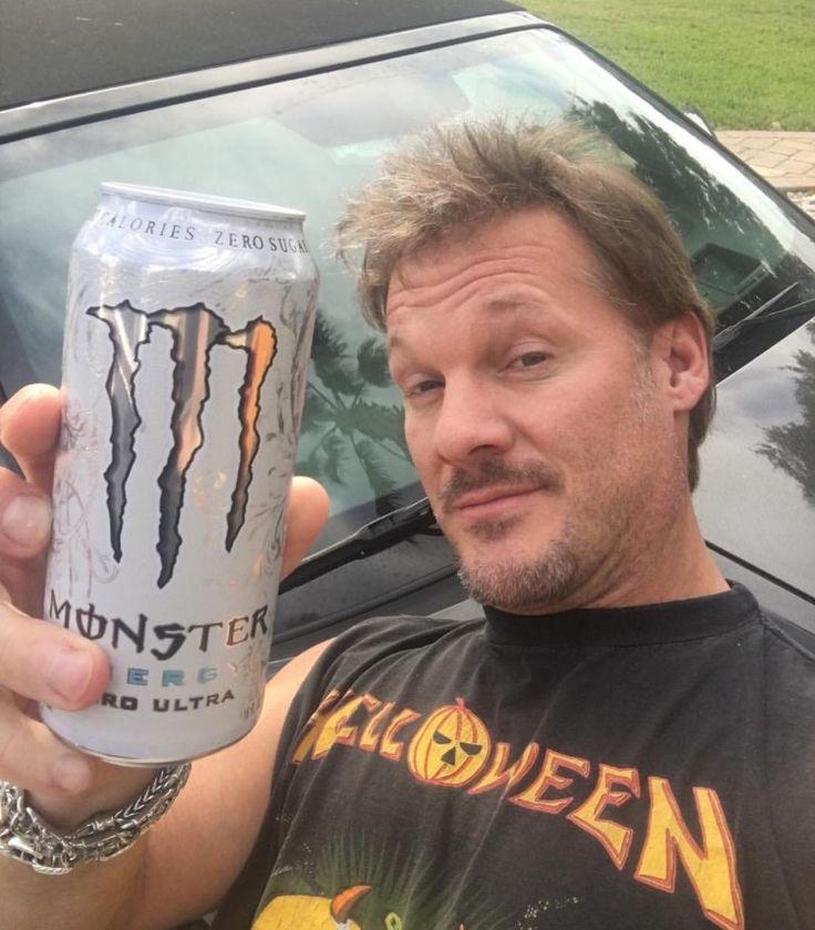 Chris Jericho enjoying some Monster Energy