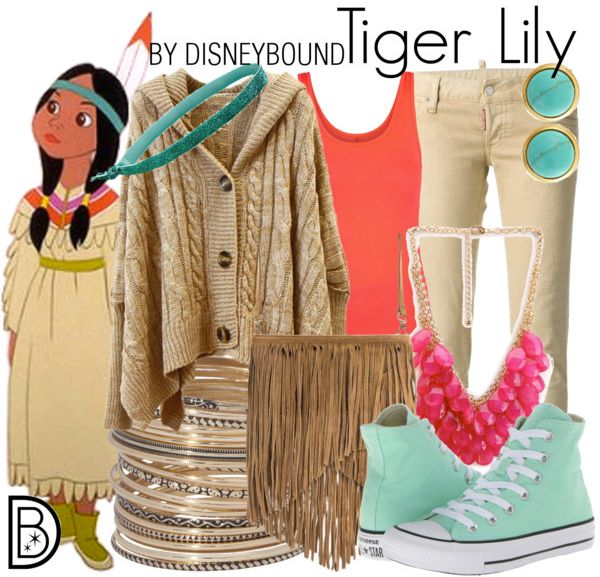 Disney Bound Tiger Lily. Idea for Tinkerbell 10k Outfit.