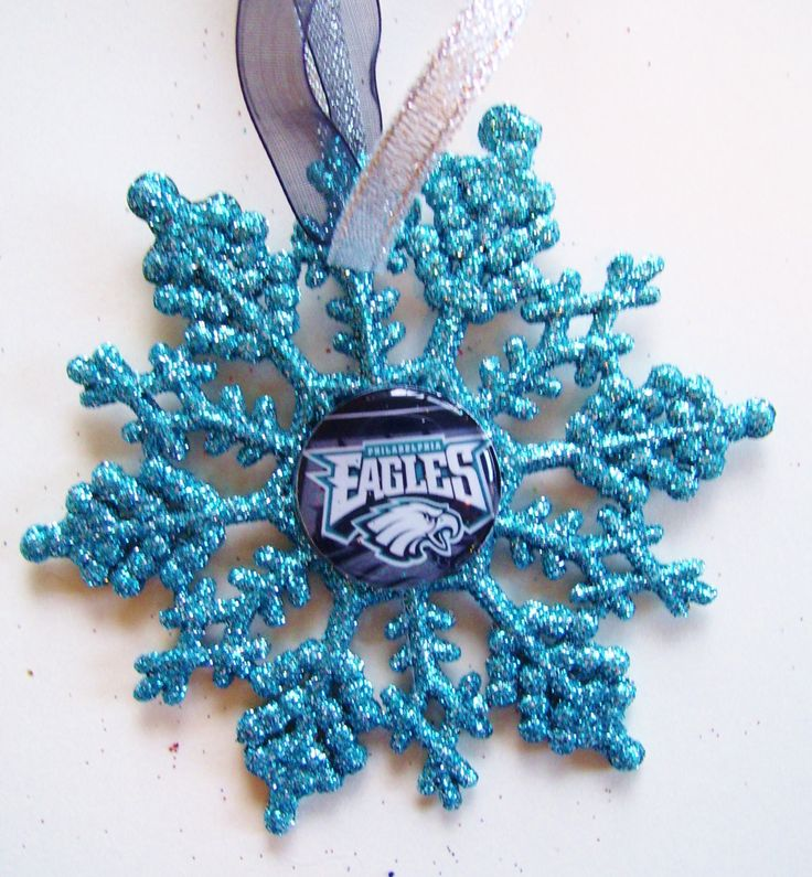 Philadelphia EAGLES Football Fans!! Handmade Glitter Snowflake by ZZsTeamTime on Etsy