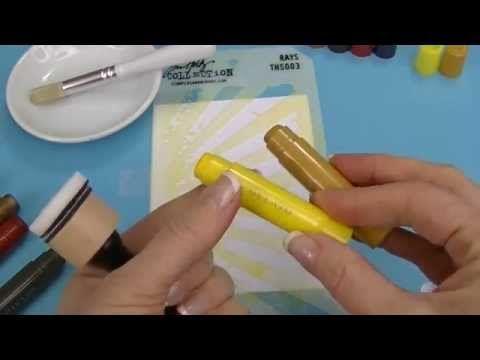 Tim Holtz Stencils & Gelatos Background - YouTube