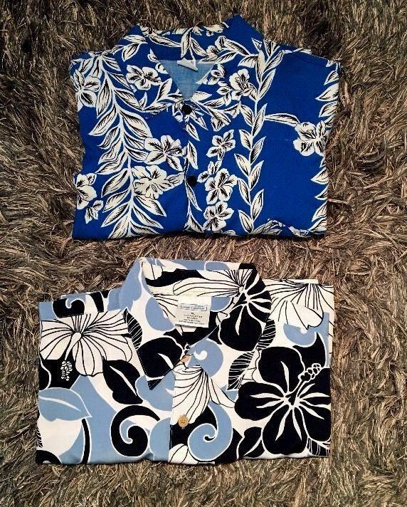 Lot of 2 Islander Mens Button-Front Hawaiian Shirts XL #Unbranded #Hawaiian