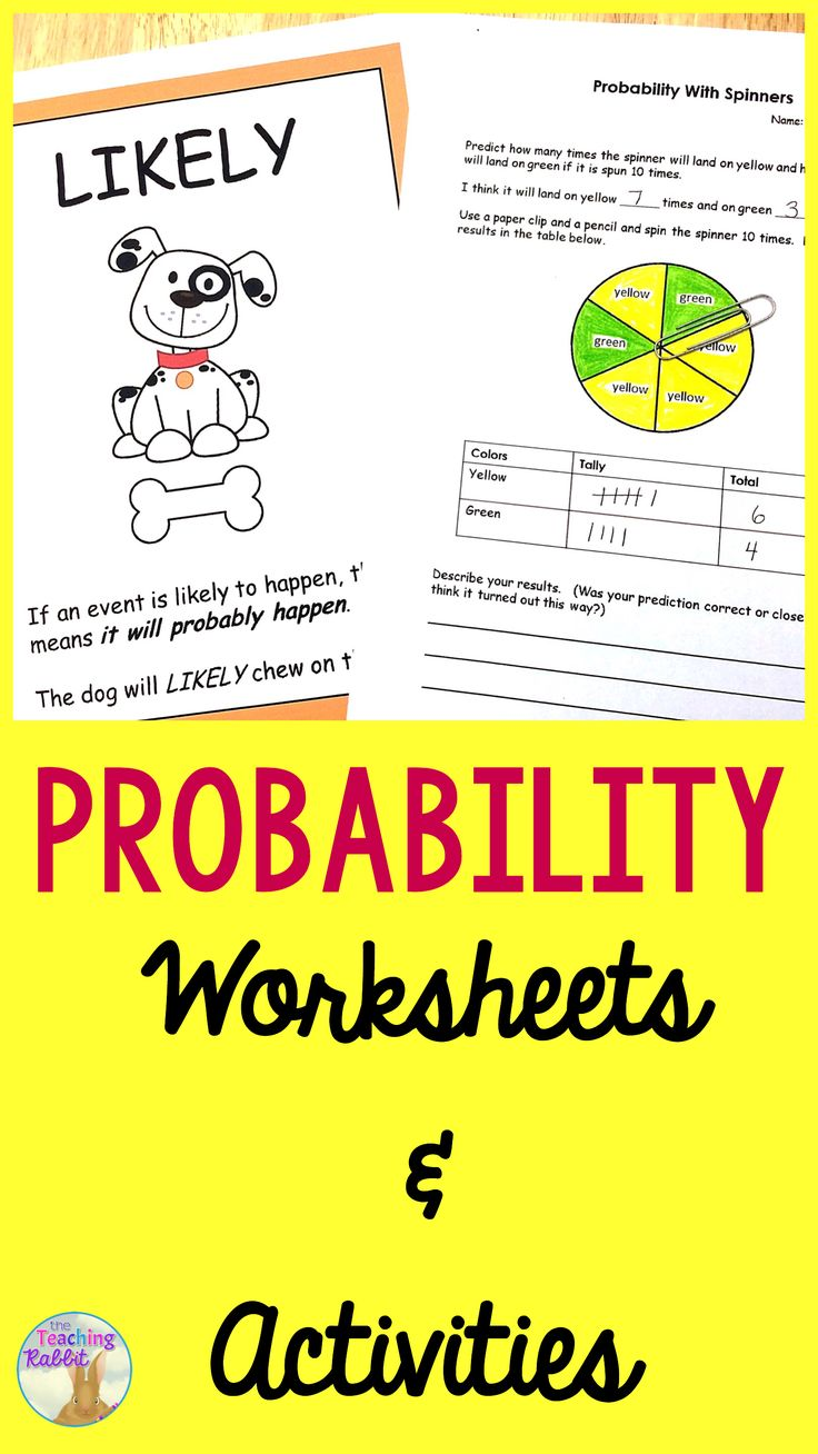 Best 20 probability games ideas on pinterest prior probability probability worksheets activities robcynllc Images