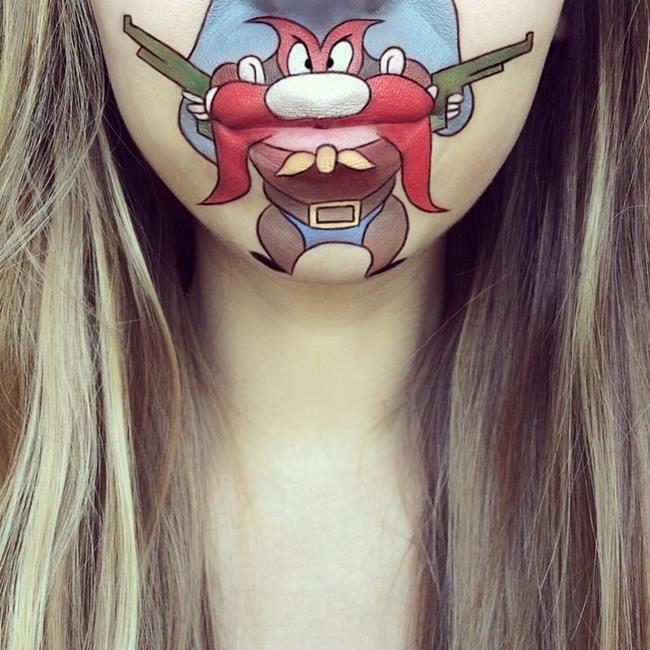 Makyaj Sanatçısı Laura Jenkinson Animasyon Karakterlerini Ağız Çevresine Resmediyor Sanatlı Bi Blog 32