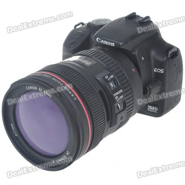 Material: PVC - Unique dummy Canon DSLR camera designed - A simple and decorative container to store your coins - Great for gift or personal collection - A good gift to teach your children the value of thrift http://j.mp/1ljDwbh