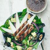 Portobello, Walnut, Avocado, & Pear Salad