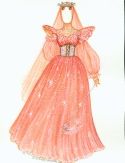 Fairy Godmother--Click--there are lots of Cinderella paper dolls to color.  PAPERDOLLS!!