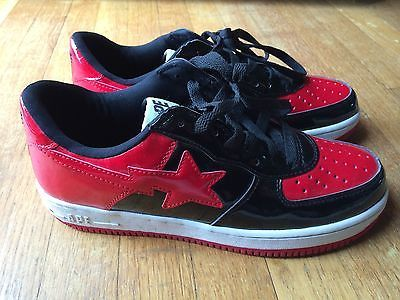 Bathing Ape Bape Bapesta Sta FS-004 Foot Soldier Red/Black/White Sneakers Sz 10