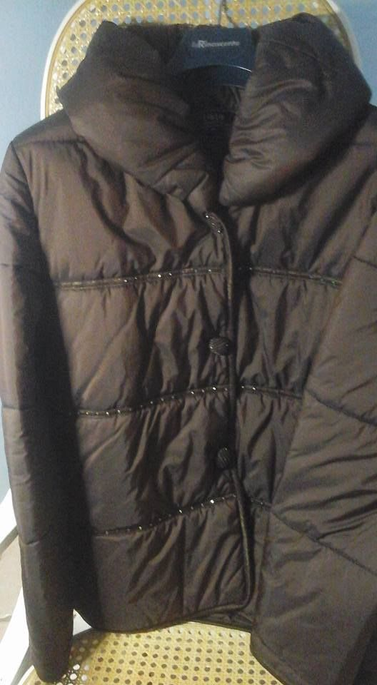 giacca piumino antivento  Liolà  taglia 46 colore marrone