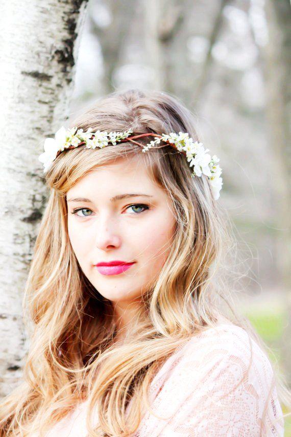floral wedding headband | Wedding: Bridal Flower hair, wedding accessories, wedding headpiece ...