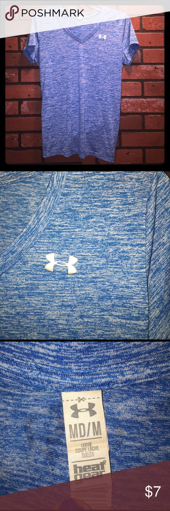 Under Armour T Shirt This is a blue under armour women's top. lightly worn. Size medium. Under Armour Tops Tees - Short Sleeve