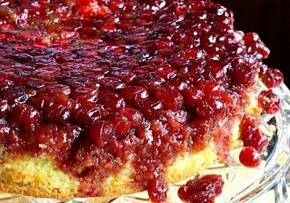 Cranberry Upside Down Cake - Utterly delicious and very spectacular. Did I mention super-easy too?