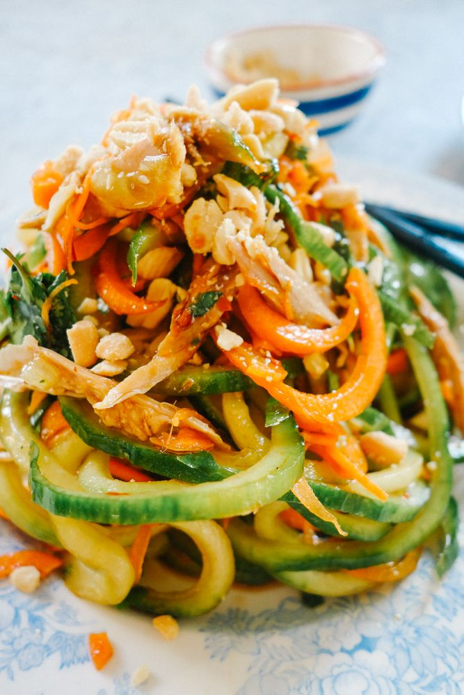 Pad Thai Salad (Low Carb!) - The Londoner Note: Reduce the dressing.  Makes way too much & is a bit too salty.