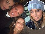 The 43-year-old singer looked the picture of happiness on Sunday as she reunited with her Strictly pal Judge Rinder for dinner.