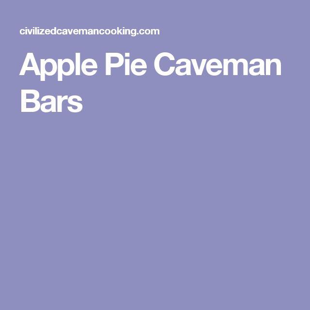 Apple Pie Caveman Bars