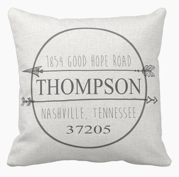 Pillow cover housewarming gift personalized address by joliemarche pillow cover housewarming gift personalized address by joliemarche jolie marche pinterest housewarming gifts pillows and house negle Images