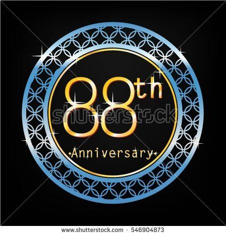black background and blue circle 88th anniversary for business and various event