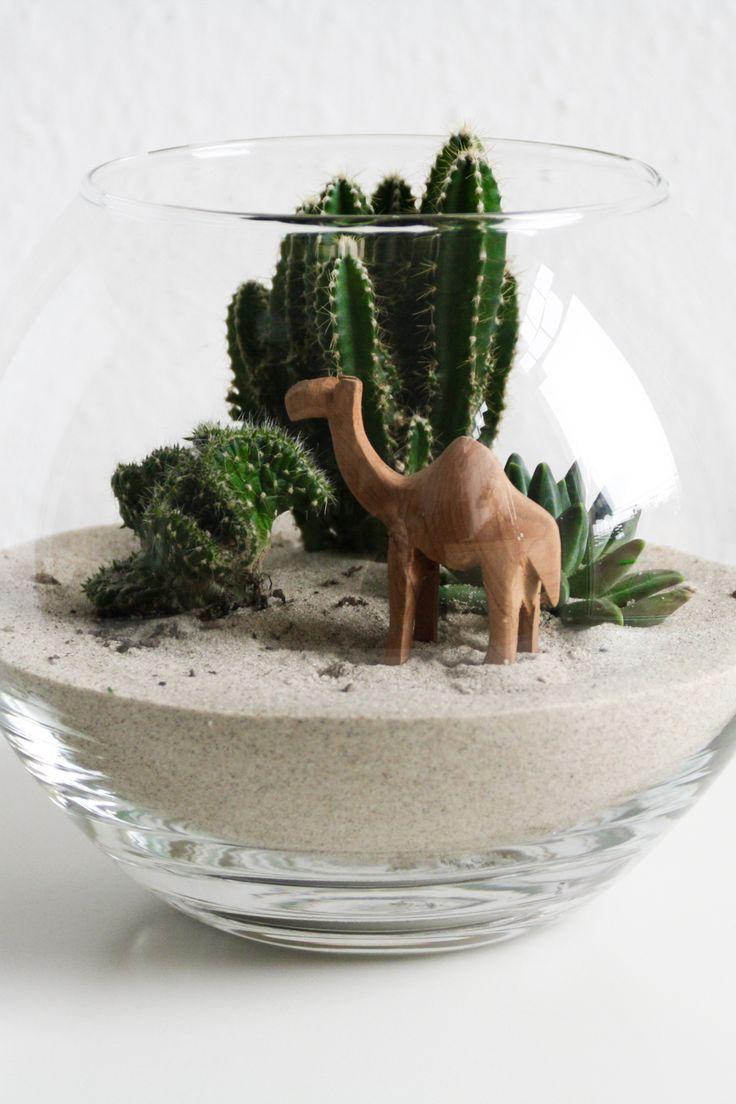 DIY kleine Wüste im Glas | Terrarium | Sukkulenten | Pflanzen | Kamel | Urban Jungle Bloggers | Design | Kaktus | Kakteen | green living design | succulent | Deko | Basteln | Einpflanzen | Sand | Dekoration | Geschenke | Interior | Biotop