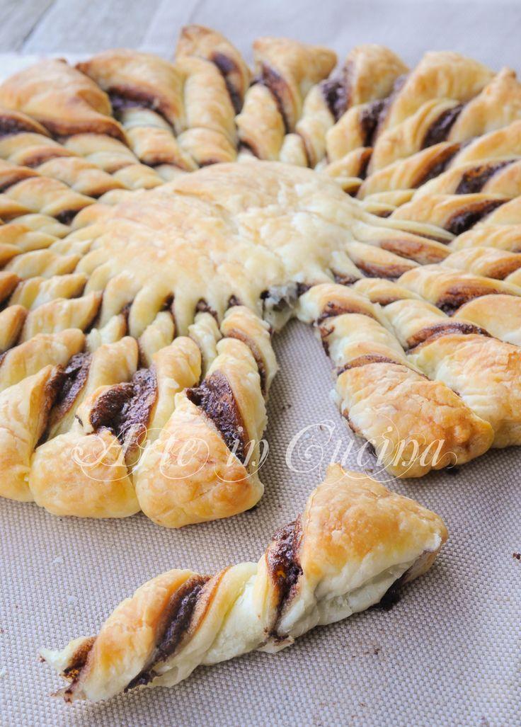 Girandola di sfoglia alla nutella ricetta veloce vickyart arte in cucina