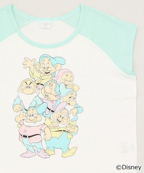 WEGO LADY'S(ウィゴーレディース)の∴WEGO/DisneyショートラグランTシャツ(Tシャツ/カットソー) グリーン系その他