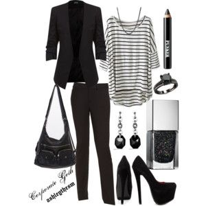"""""""Corporate Goth"""" by ashleythesm on Polyvore More"""