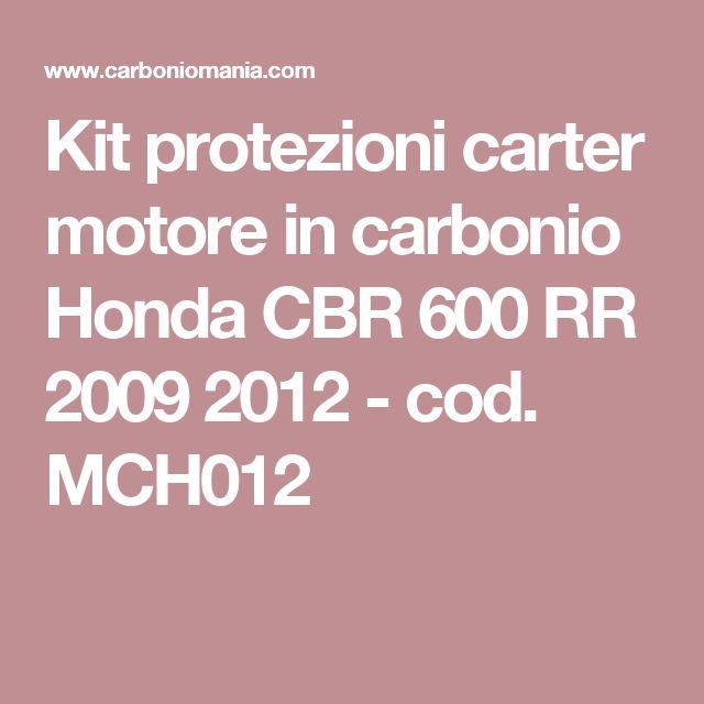 Kit protezioni carter motore in carbonio Honda CBR 600 RR 2009 2012 - cod. MCH012