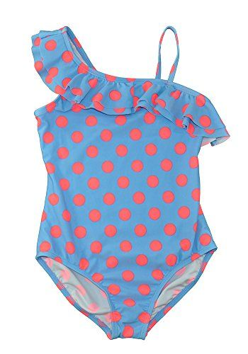 066c617f9f31a OshKosh Big Girls Polka Dot Ruffle One-Piece Swimsuit