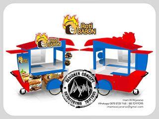 Jasa Desain Logo Kuliner |  Desain Gerobak | Jasa Desain Gerobak Waralaba: Desain Gerobak Dorong Roti Babon