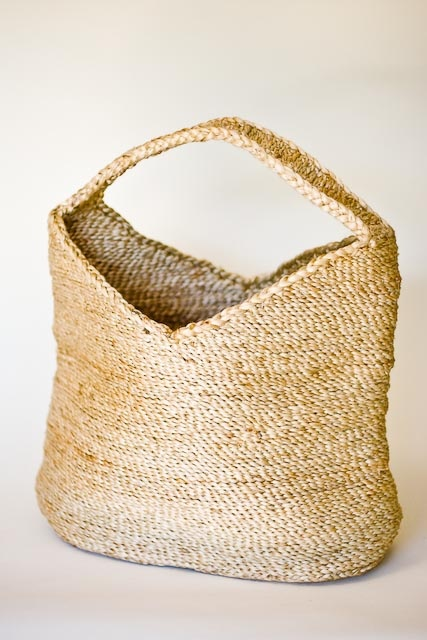 fair-trade jute magazine basket by The Dharma Door