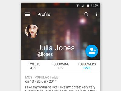Twitter Profile using Material Design [Free .psd]