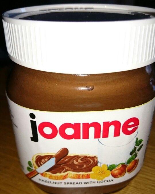 My personalised #Nutella jar