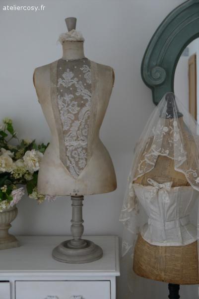 Mannequin ancien  Brocante de charme atelier cosy.fr