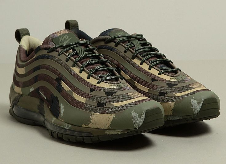"""Nike is breaking out the Camo print for, the """"Italian Camouflage"""" Nike Air Max 97. Featuringan Italian Camo print design, that covers the upper, midsole, tongue, andalso the lining.Forthe finishing touch, stiched inside the insole of thesekicks are the Italiannational flag. Coming in a Camo print box, these Air Max's are a must have! These"""
